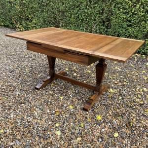 Art Deco Oak Draw Leaf Dining Table