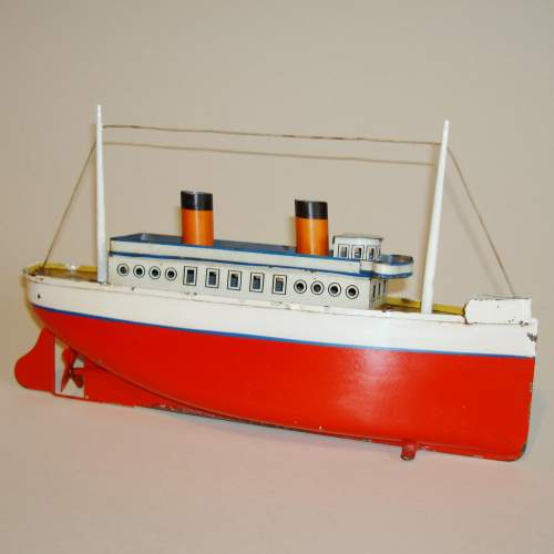 Clockwork Tinplate Ocean Liner by Bing image-1