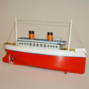 Clockwork Tinplate Ocean Liner by Bing
