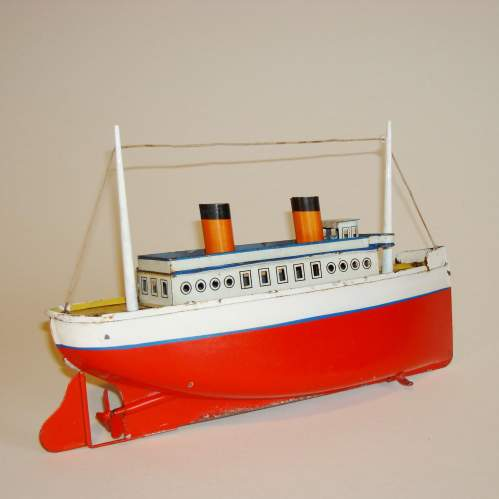 Clockwork Tinplate Ocean Liner by Bing image-2