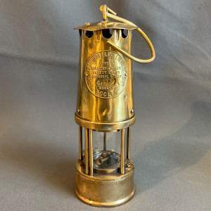Original Early Vintage Brass Miners Lamp