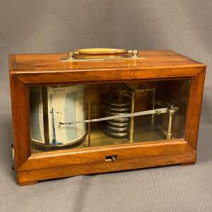 French Cased Clockwork Barograph