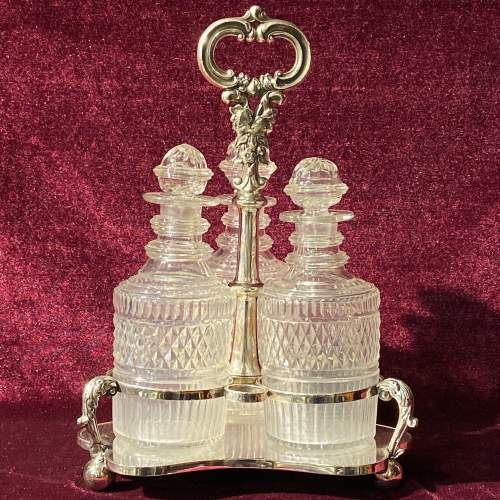 Silver Plated Mid 19th Century Bottle Stand image-1