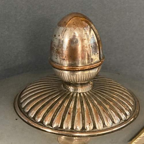 Victorian Round Silver Plate on Copper Meat Dome image-2