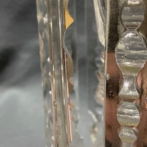 Pair of William IV Cut Glass Lustre Candlesticks image-6