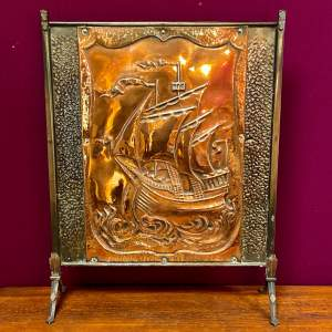 Arts and Crafts Copper Fire Screen