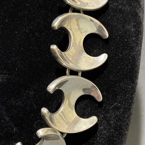Georg Jensen Silver Necklace with Nephrite Clasp image-3