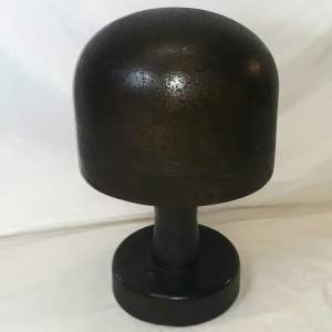 Vintage Wooden Milleners Hat Block with Stand
