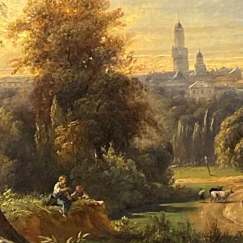 Mid 19th Century Landscape Oil on Canvas Painting image-2