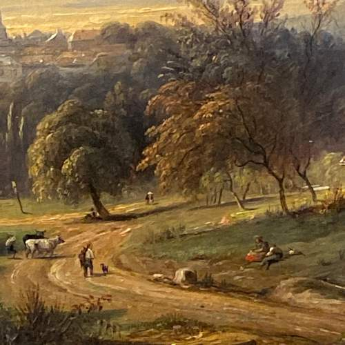 Mid 19th Century Landscape Oil on Canvas Painting image-3