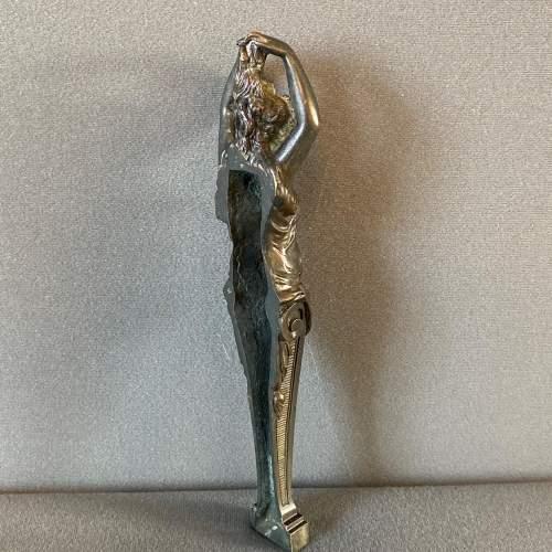 Art Nouveau Bronze Lady Figure image-4