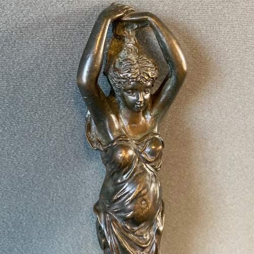 Art Nouveau Bronze Lady Figure image-3