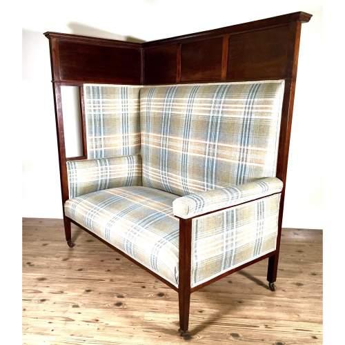 JAS Shoolbred Victorian Mahogany Corner Tavern Chair image-1