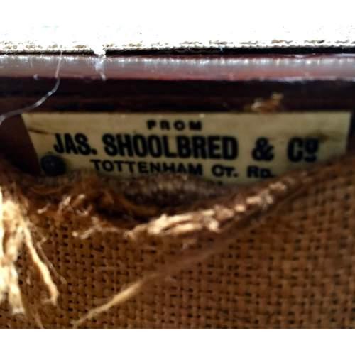 JAS Shoolbred Victorian Mahogany Corner Tavern Chair image-4
