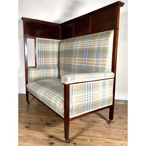 JAS Shoolbred Victorian Mahogany Corner Tavern Chair image-5