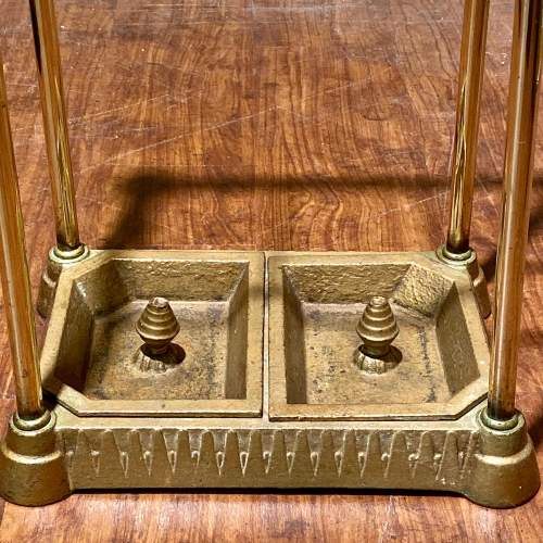 Victorian Brass and Iron Stick Stand image-3