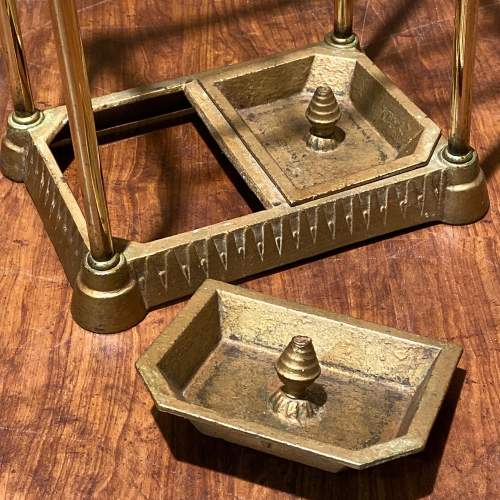Victorian Brass and Iron Stick Stand image-4