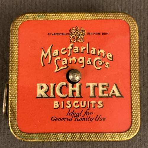 Vintage 1930s Macfarlane Rich Tea and Granola Digestives Tape image-2