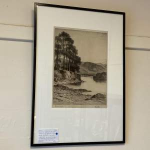 Limited Edition Etching of Derwentwater by John Fullwood
