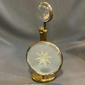 Victorian English Gilt Brass Table Magnifier