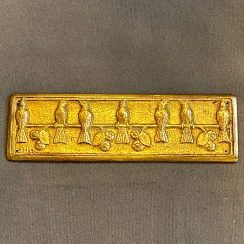 French Art Deco Gilt Bronze Plaque and Roundels image-3