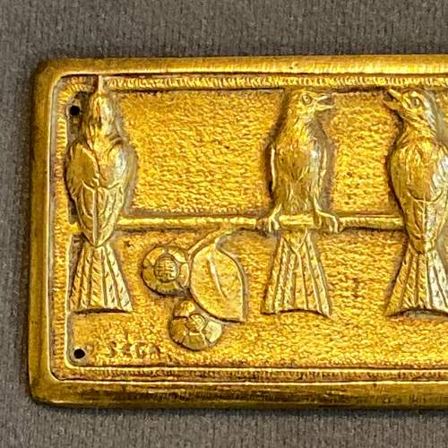 French Art Deco Gilt Bronze Plaque and Roundels image-4
