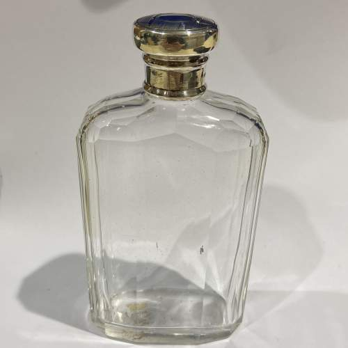 Cut Glass Silver Topped Hip Flask image-1
