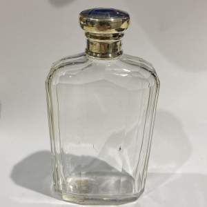 Cut Glass Silver Topped Hip Flask