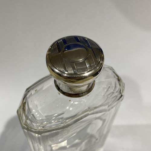 Cut Glass Silver Topped Hip Flask image-2