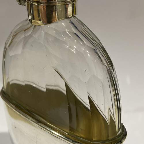 Cut Glass and Silver Plate Hip Flask image-2