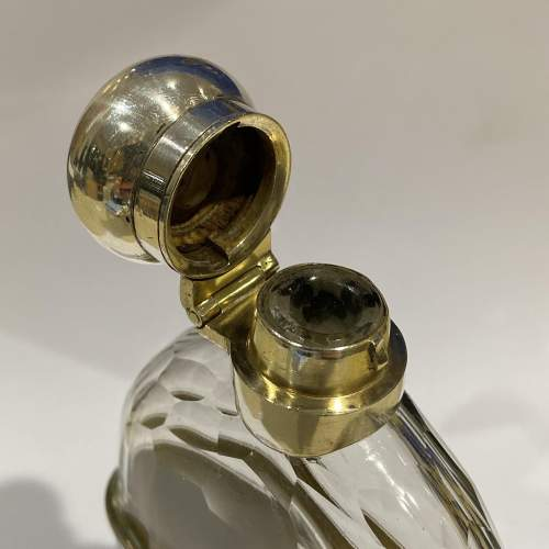 Cut Glass and Silver Plate Hip Flask image-4