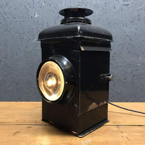 Adlake Non Sweating Rail Lamp Converted to Electric image-1