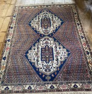 Superb Old Hand Knotted Persian Rug Afshar - Shahr Babak