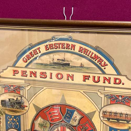 Great Eastern Railway Framed Pension Fund Certificate image-4