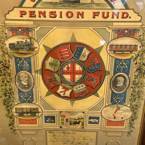 Great Eastern Railway Framed Pension Fund Certificate image-2