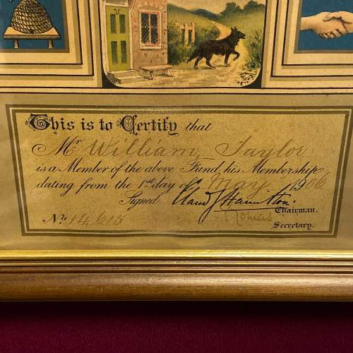 Great Eastern Railway Framed Pension Fund Certificate image-3