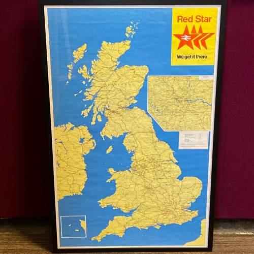 1968 Red Star British Rail Full System Poster image-1