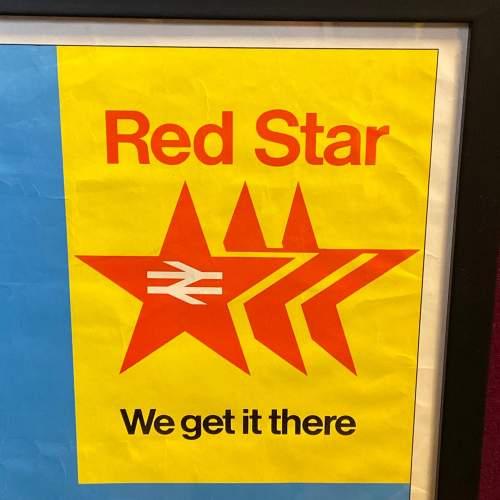 1968 Red Star British Rail Full System Poster image-2