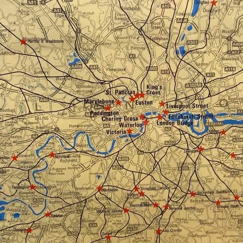 1968 Red Star British Rail Full System Poster image-4