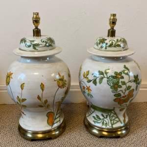 Pair of Large 20th Century Decorative Ceramic Lamps