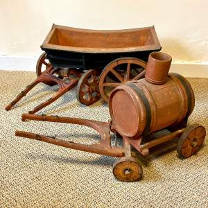 Set of Two 19th Century Model Carts by Griggs of Norfolk
