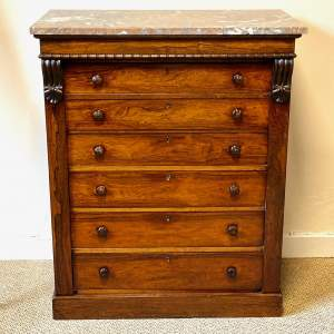 Early 19th Century Rosewood Secretaire Chest of Drawers