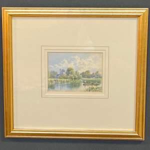 Watercolour of Maple Durham