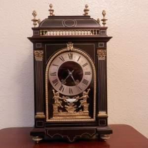 French Religious Mantel Clock Circa 1890
