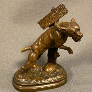 Bronze of a Bull Mastiff Dog after Prosper le Courtier
