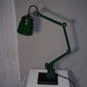 Vintage Green Enamel Machinists Lamp