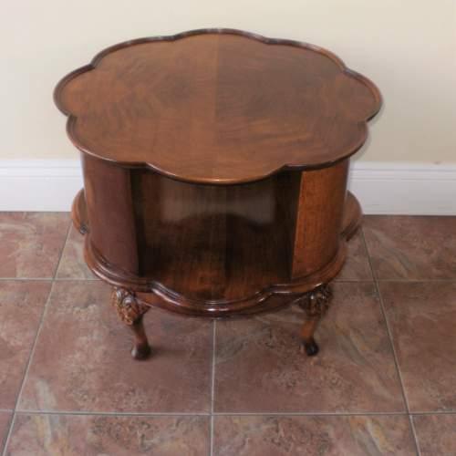 1920s Mahogany Revolving Bookcase - Coffee Table image-1