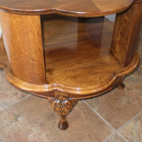 1920s Mahogany Revolving Bookcase - Coffee Table image-3