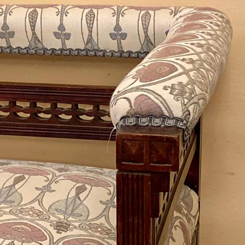 Art Nouveau Upholstered Corner Chair image-4