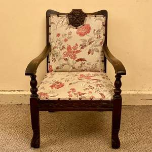 Victorian Upholstered Childs Chair